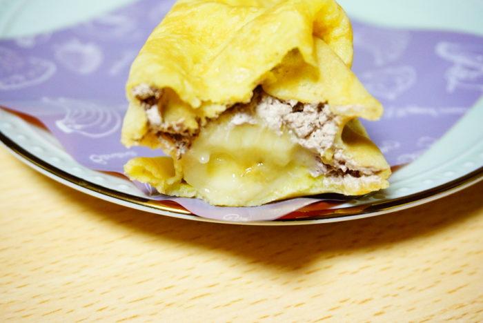 ファミマのチョコバナナクレープのバナナ