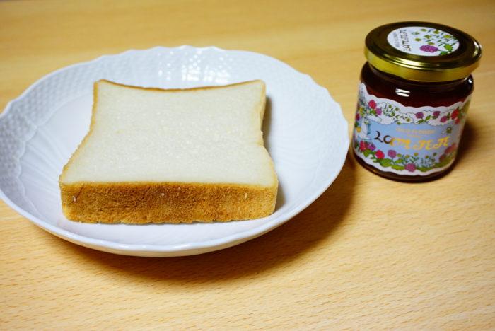 ラムテテのワイルドフラワーハニーと食パン