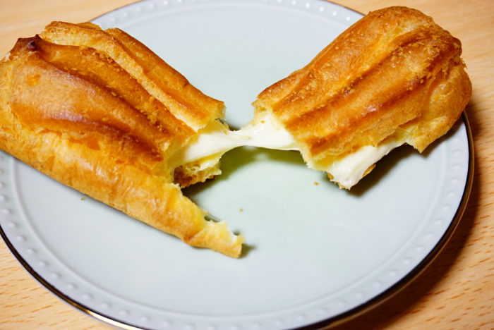 ノビーなエクレアチーズを近くで見る