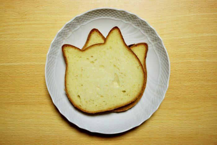 ねこねこ食パンを上から